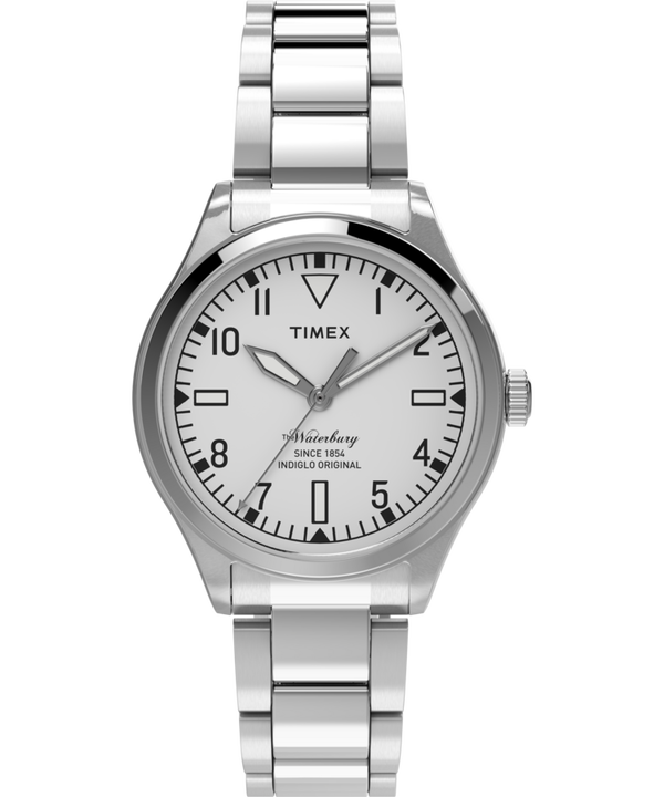 Waterbury Traditional 3 Hand 38mm Stainless Steel Watch  (large)