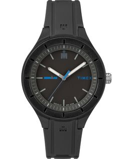 IRONMAN 38mm Silicone Strap Watch Black/Blue large