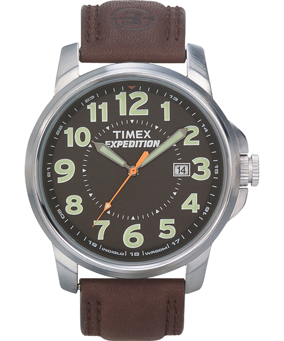 Expedition Metal Field Metal 40mm Leather Watch  large