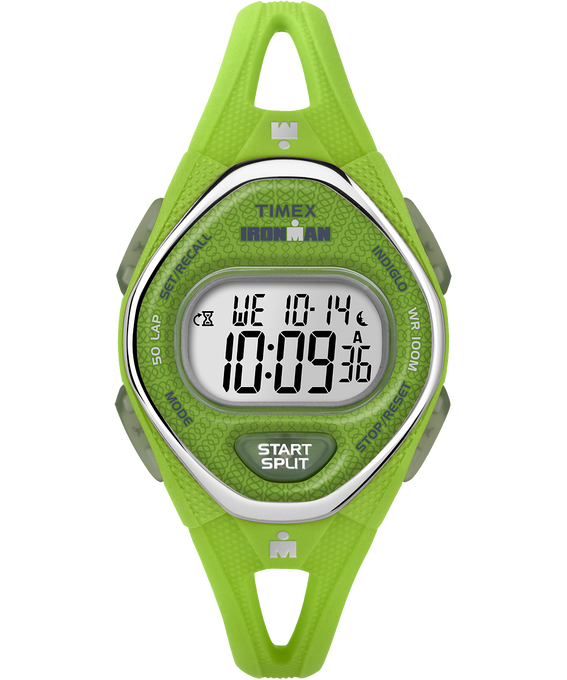 IRONMAN Sleek 50 Mid-Size 34mm Silicone Strap Watch Green large