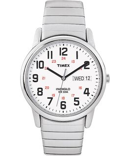 Easy Reader 35mm Stainless Steel Watch with Day Date Silver-Tone/Stainless-Steel/White large