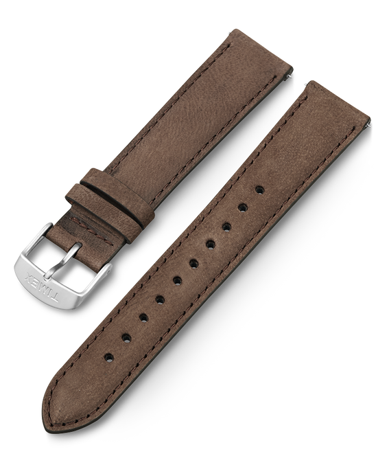 20mm Leather Quick Release Strap Brown large