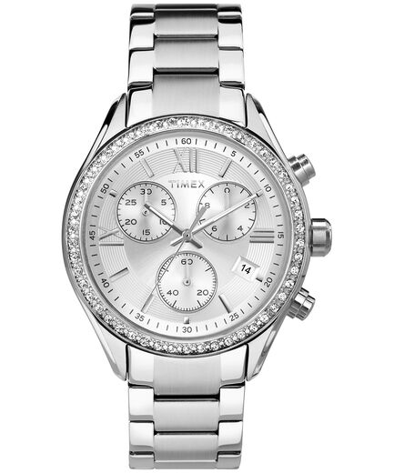 b8d8b2525 Miami With Swarovski® Crystals 38mm Bracelet Watch Stainless-Steel/ Silver-Tone large
