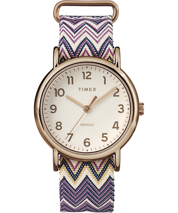 Weekender Chevron 38mm Fabric Strap Watch  (large)