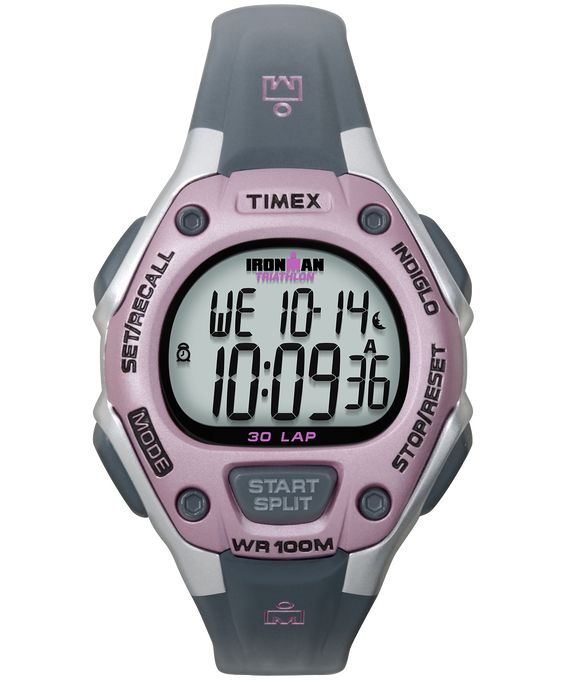 IRONMAN Classic 30 Mid-Size 34mm Resin Watch Silver-Tone/Gray/Pink large
