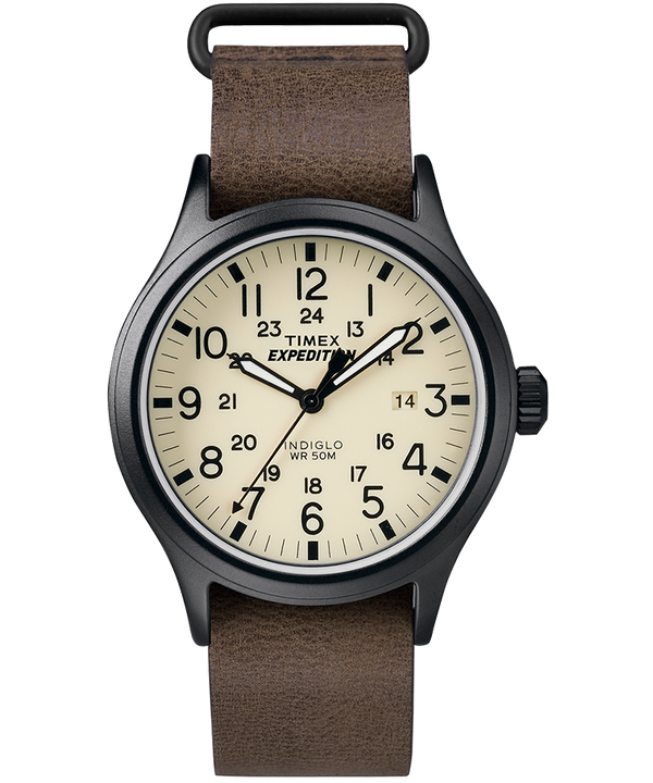 Expedition Scout 40mm Slip Thru Leather Watch  large
