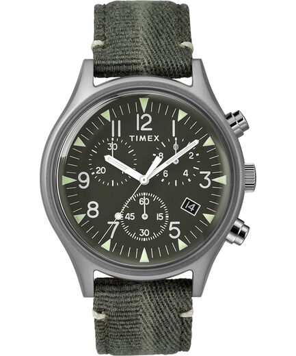 91803cb82bf5 MK1 Steel Chronograph 42mm Fabric Strap Watch Stainless-Steel Green large
