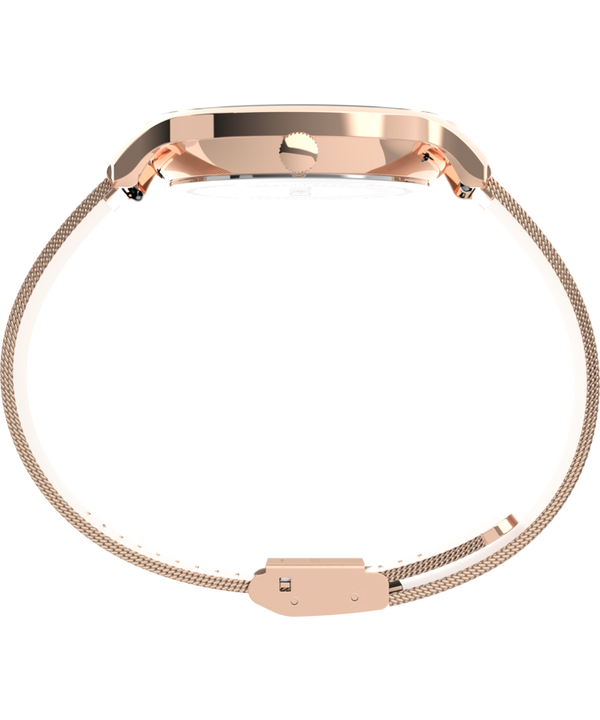 Transcend™ Multifunction 38mm Stainless Steel Mesh Band Watch Rose-Gold-Tone/Pink large