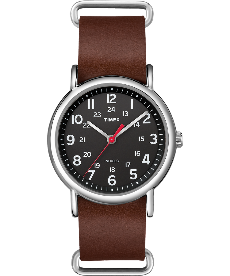Weekender 38mm leather watch timex us for Watches 38mm