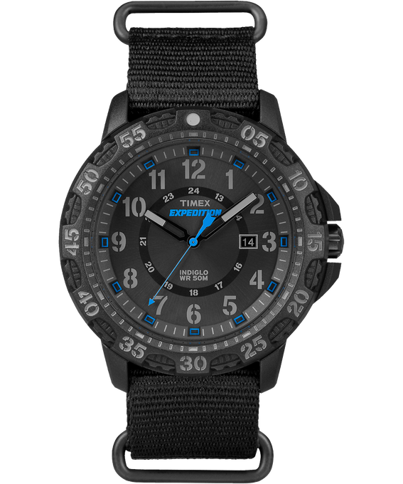 Expedition Gallatin 44mm Nylon Strap Watch Black large