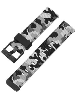 22mm Quick Release Black and Camo Fabric Strap Camo large