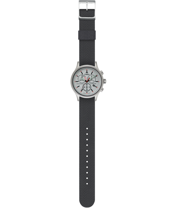 Allied Chronograph 42mm Reversible Fabric Strap Watch
