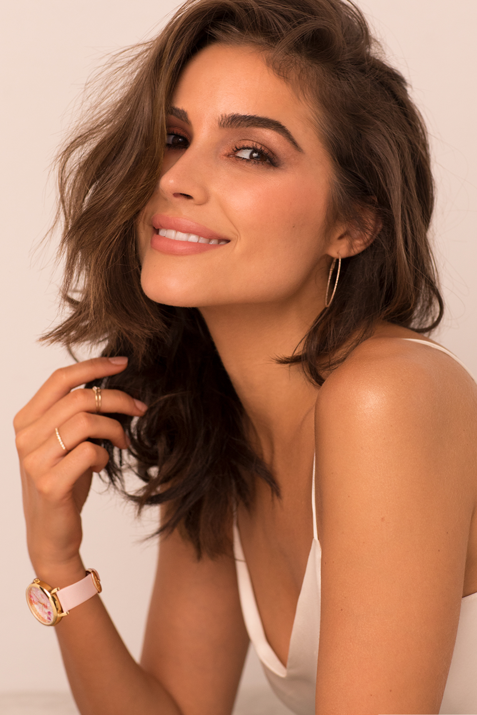 Olivia Culpo with her stylish Crystal Bloom watch