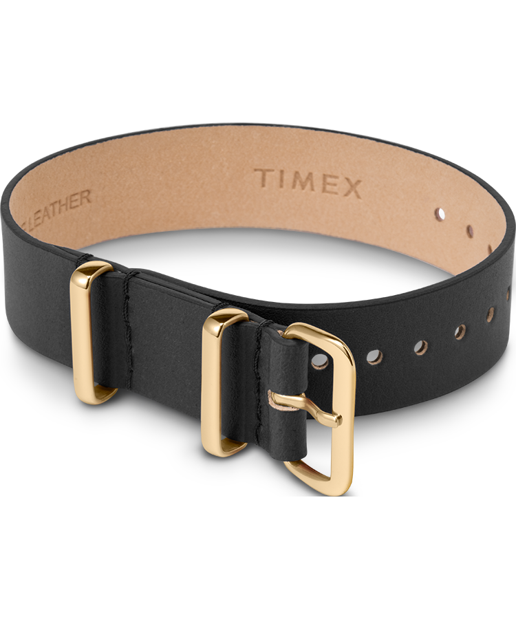 UPC 753048873432 product image for Timex Watch Women's 16MM Leather Slip-Thru Single Layer Strap Black Item # Tw2T5 | upcitemdb.com