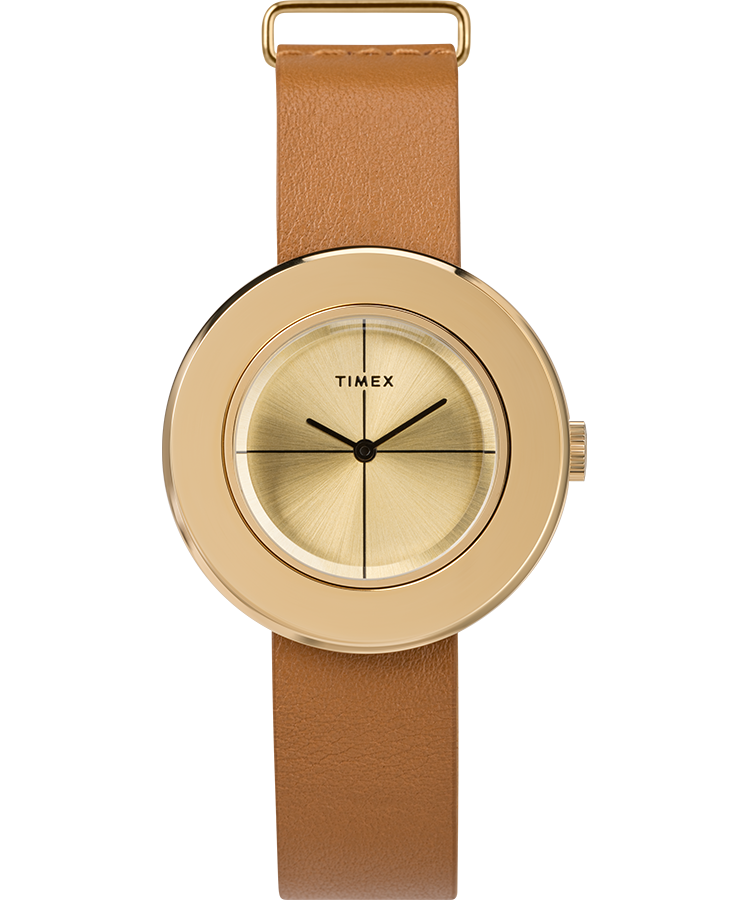 UPC 753048851843 product image for Timex Watch Women's Variety 34MM Leather Strap Gold-Tone/gold-Tone Item # Tw2T51 | upcitemdb.com