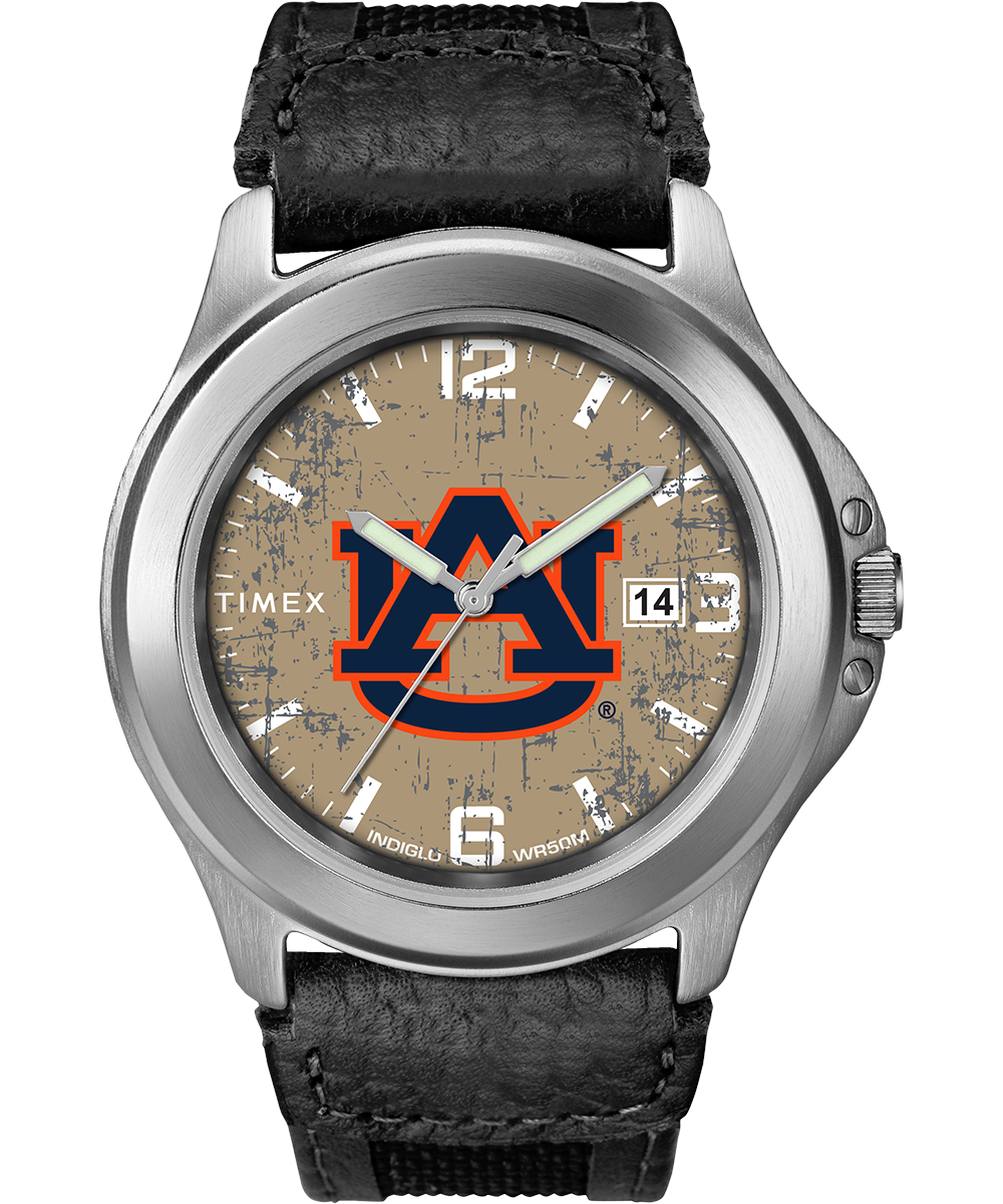 Timex Watch Men's Old School Auburn Tigers Silver-Tone/black/natural Item # Twzuaubmcyz