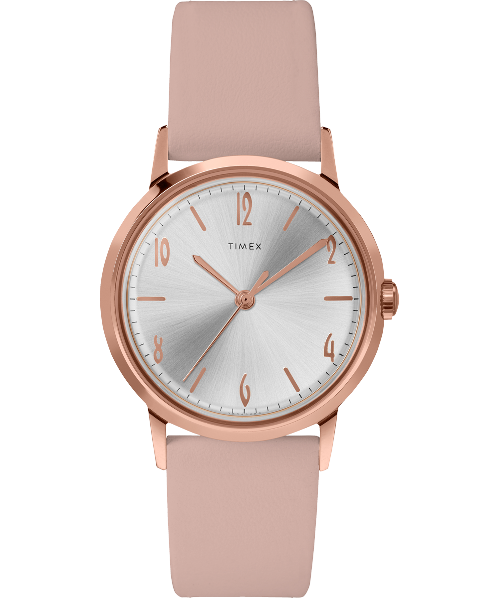 UPC 194366022896 product image for Timex Watch Women's Marlin Hand-Wound 34MM Leather Strap Rose Gold-Tone/pink/sil | upcitemdb.com