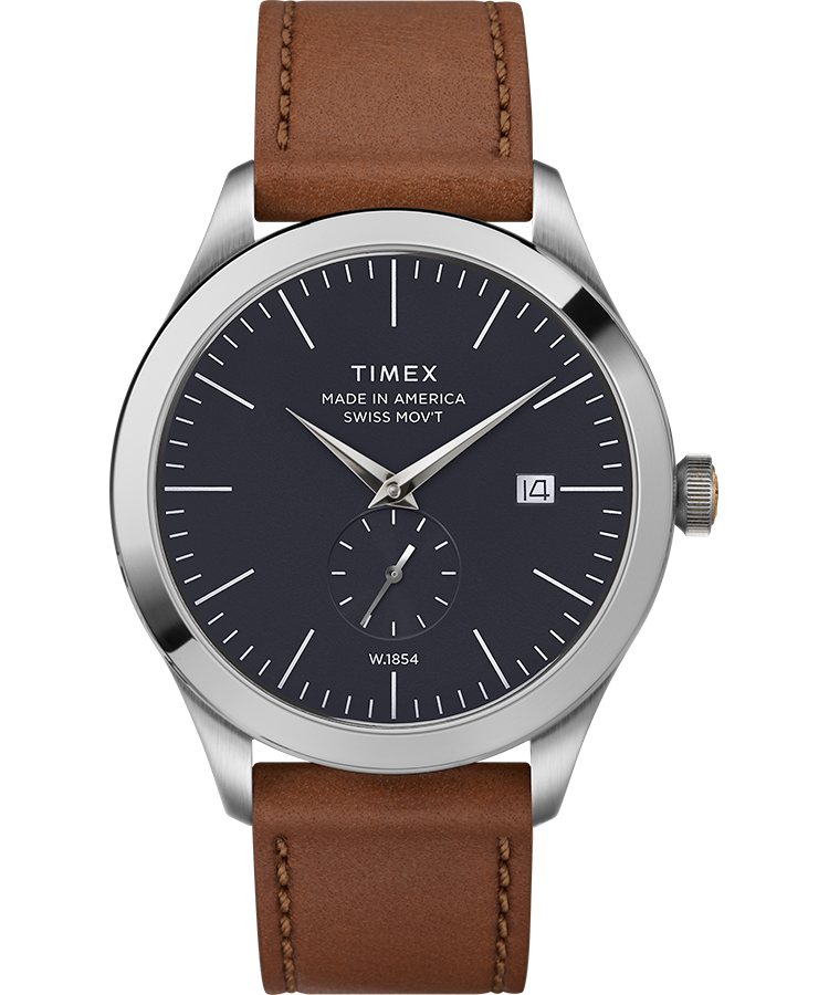 UPC 753048833306 product image for Timex Watch Men's American Documents #003 Stainless Steel/brown/blue Item # Tw2R | upcitemdb.com